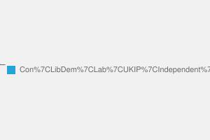 2010 General Election result in Spelthorne